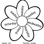 colección de imagenes para imprimir sobre los dias de la semana en ingles