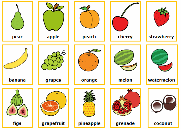 aprender la comida en ingles