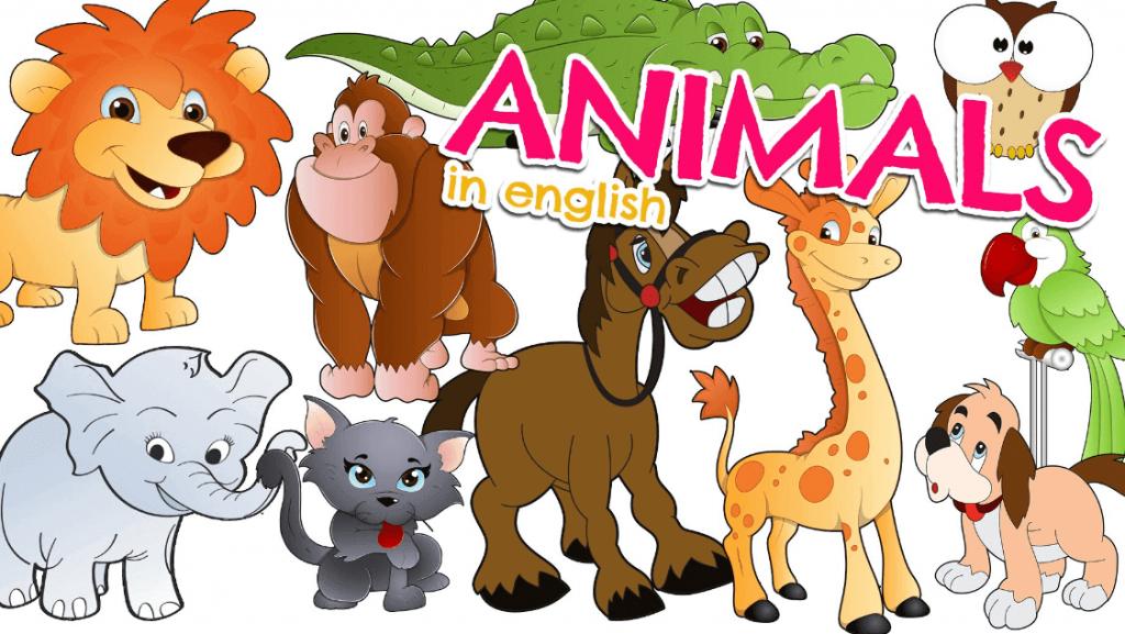 lista de nombres de animales en ingles