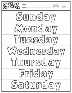 imágenes de los días de la semana para imprimir