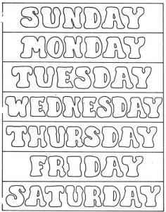 Ejercicios para aprender los dias del mes en inglés