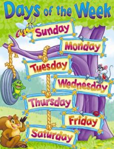 días de la semana en ingles y español