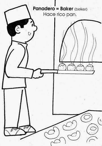 pastelero dibujo
