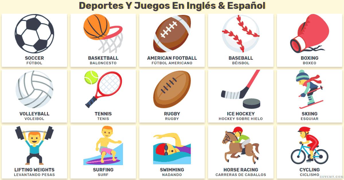 todos los deportes en ingles, nombre de deportes en ingles, lista de deportes en inglés