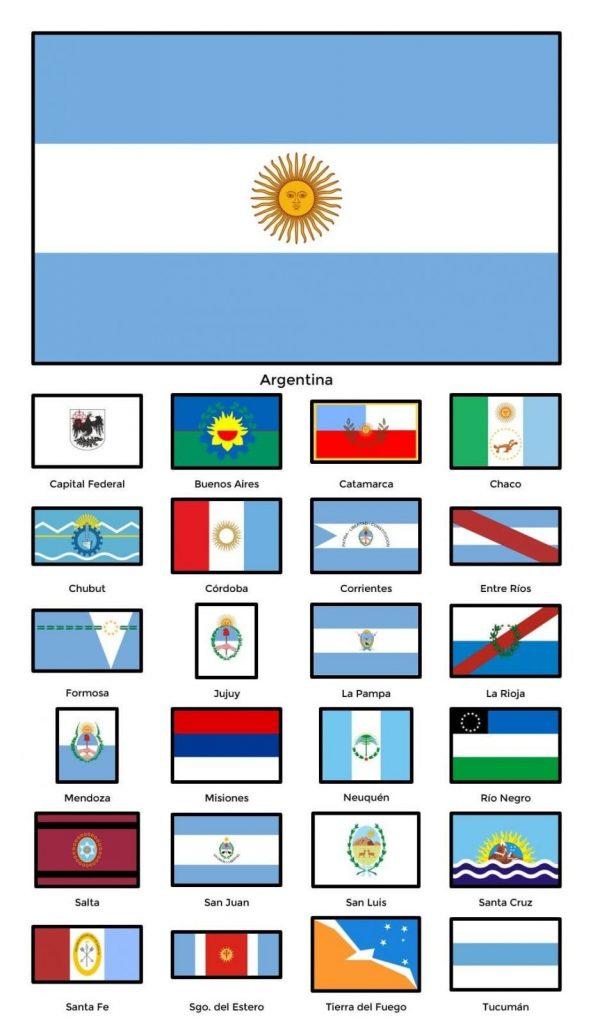 provincias de argentina con su bandera