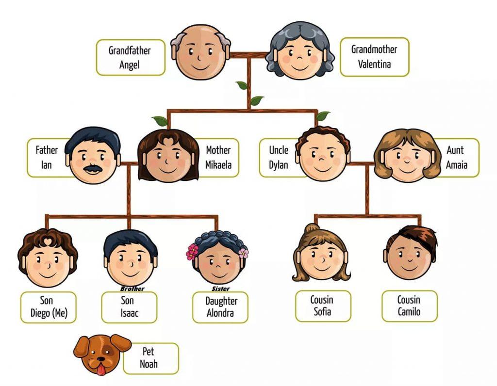 arbol genealogico en ingles de la familia, arbol genealógico en inglés, arbol genealogico en ingles ejemplos, arboles genealogicos en ingles, ejemplos de arbol genealogico en ingles,