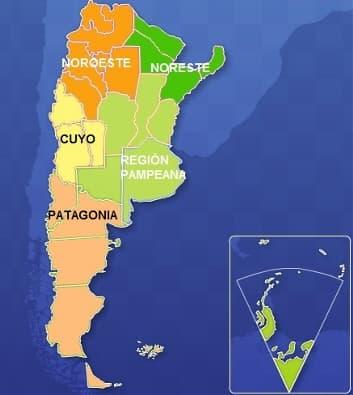 cuales son las regiones de argentina