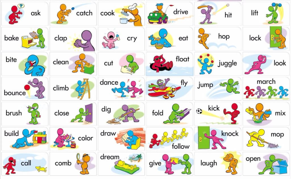 verbos en ingles para niños