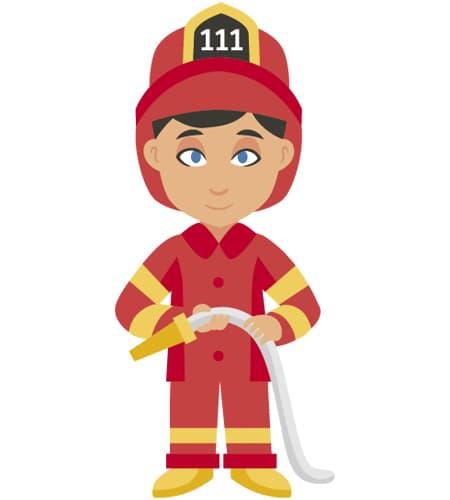 bombero en ingles